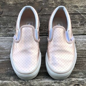 Vans Classic Slip On Youth Girl Rose Gold Sneaker